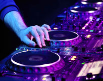 Dj playing the track Stock Photography