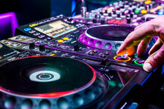 Dj playing the track Royalty Free Stock Photo