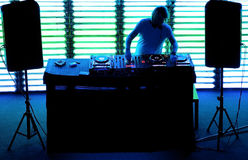 Dj playing the track in the nightclub. At a party Stock Photography