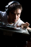 DJ plays set  Royalty Free Stock Image