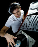 DJ plays set i Stock Photos