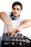 DJ plays set i Royalty Free Stock Photos