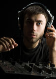 DJ plays set i Royalty Free Stock Image