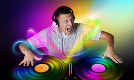 DJ plays a vinyl concept Royalty Free Stock Images