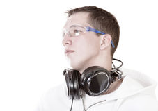 DJ portrait over white Stock Image