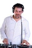 DJ portrait on white. Royalty Free Stock Photo