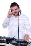 DJ portrait on white. Royalty Free Stock Photography