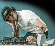 DJ przy pracą Zdjęcie Stock