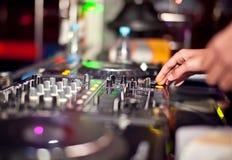 Mezcla de DJ Foto de archivo libre de regalías