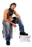 DJ que se relaja Imagen de archivo libre de regalías