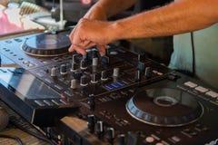 DJ, ręki Zdjęcie Royalty Free