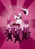 Dj Rabbit in night club Royalty Free Stock Image