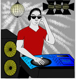 Dj in red Stock Images
