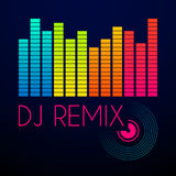 Dj remix typography, t-shirt graphics. vector illustration.  Royalty Free Stock Photos