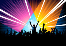 DJ Responding To Crowd Royalty Free Stock Images