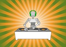 Dj robot Royalty Free Stock Photography