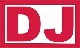 DJ rojo sella ilustración del vector