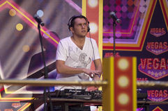 DJ Rudenko auf einer Szene stockfotografie