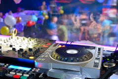 DJ's deck Royalty Free Stock Images