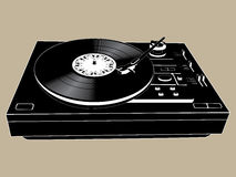DJ's deck. Vector image of a isolated vinyl DJ's deck stock illustration