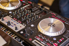 DJ's deck Stock Image