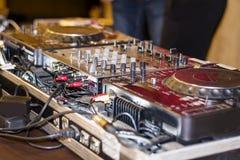 DJ's deck Royalty Free Stock Image