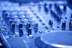 DJ's equipment background stock images