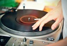 DJ's hand Stock Image