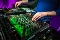 Free DJ`s Hands At The Music Mixer At A Party Royalty Free Stock Photos - 83592568