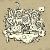 DJ's Spirit. Beautiful illustration of DJ's Spirit Stock Photo