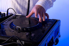 DJ's turntable. Stock Photo
