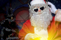 Dj santa Royalty Free Stock Images