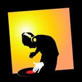 DJ schlagen mit einer Keule Lizenzfreie Stockbilder