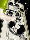 DJ schlagen Tanz mit einer Keule lizenzfreie stockfotos