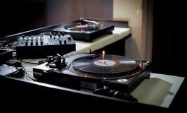 DJ-Schreibtisch Lizenzfreies Stockfoto