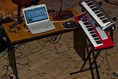 DJ-Schreibtisch Lizenzfreies Stockbild