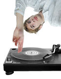 DJ Scratching Record Stock Photography