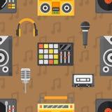 DJ seamless pattern vector. vector illustration