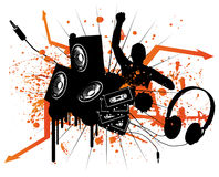 DJ Set. A Set of Music Illustrations Royalty Free Stock Images