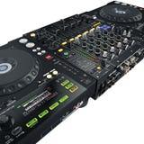 DJ set black Royalty Free Stock Image