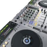 DJ set iluminować szarość Zdjęcie Stock