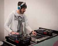 Dj set at Mipap trade show in Milan, Italy Stock Image