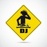 DJ Sign Royalty Free Stock Image