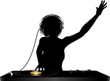 DJ silhouette Royalty Free Stock Photography