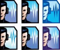 DJ sirve la cara ilustración del vector