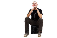 Dj sitting Royalty Free Stock Photos
