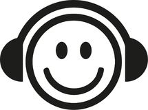 DJ smiley vector Stock Images