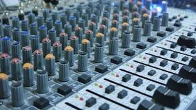 DJ Sound Console Mixer. On work stock video