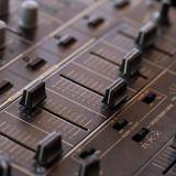 Dj Sound Mixer With Knobs And Sliders Royalty Free Stock Image