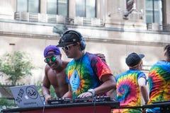 DJ spinning at Toronto Pride royalty free stock image